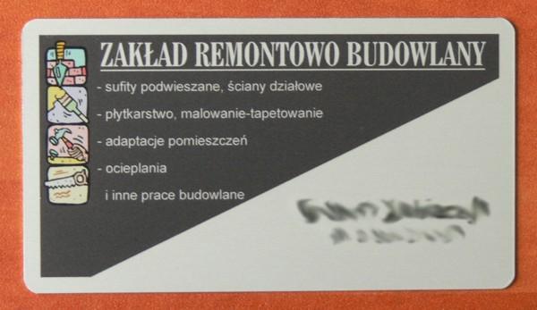 Kolorowe Wizytówki Z Aluminium Poznań Wielkopolskie Galeria