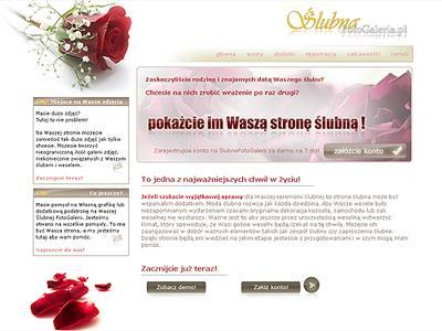 strona na wesele w sieci - kliknij, aby powiększyć