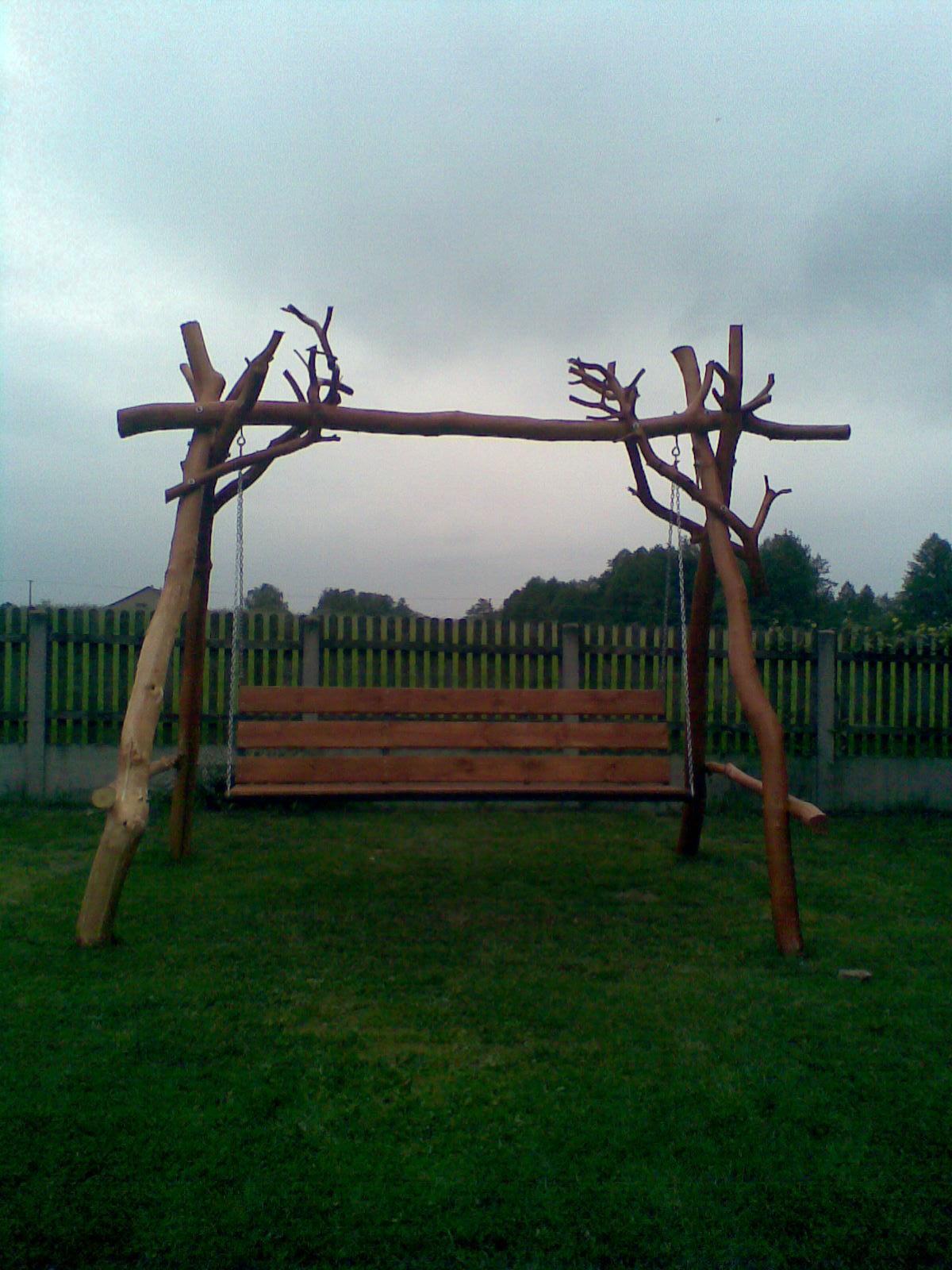 Meble Ogrodowe Na Zamowienie Wrocław : Galeria dla usługi Meble ogrodowe na zamówienie Ławeczki bujkanki