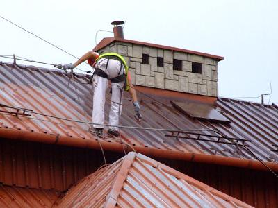 Malowanie dachu - kliknij, aby powiększyć