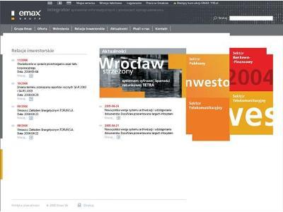 Intranet w firmie Emax (obecnie Sygnity) - kliknij, aby powiększyć