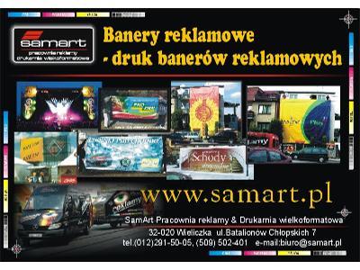 Banery reklamowe_siatka mesh_druk banerów reklamowych Kraków_reklama Kraków___www.samart.pl - kliknij, aby powiększyć