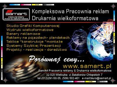 Pracownia reklam SamArt_drukarnia wielkoformatowa Kraków_usługi reklamowe Kraków__www.samart.pl - kliknij, aby powiększyć