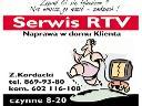 Naprawa telewizorów,sprzętu RTV u klienta w domu, Poznań, wielkopolskie