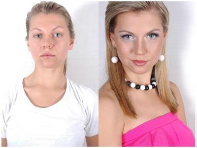 Nasza klientka przed i po metamorfozie - kliknij, aby powiększyć