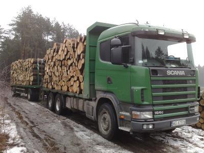 Transport drewna dłużycowego