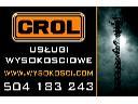 prace alpinistyczne Wrocław Crol,wysokościowe, Wrocław, dolnośląskie