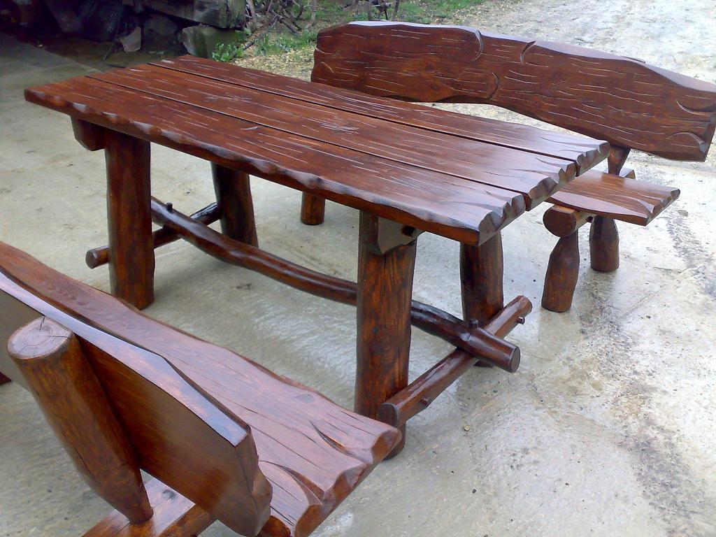 Meble Ogrodowe Z Bali Drewnianych : Galeria dla usługi MEBLE OGRODOWE  HUSTAWKI Z BALI DREWNIANYCH