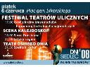 "plakat teatry uliczne m.in widowisko uliczne ""Serce Don Juna """