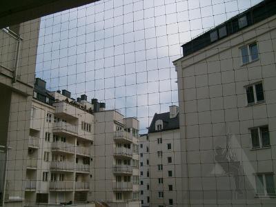 Osiatkowany balkon. - kliknij, aby powiększyć