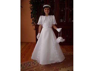 suknia komunijna Paulinka cena 370 zł - kliknij, aby powiększyć
