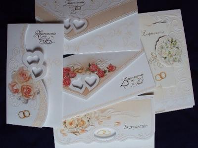 Zaproszenia ślubne Kolekcji Top 1 z wkładką i kopertą!!! - kliknij, aby powiększyć