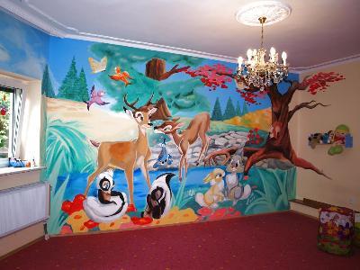 Malarstwo Scienne Malowanie Scian Dla Dzieci Wroclaw Katowice