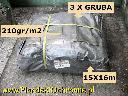 Plandeka duża  3 x Gruba 15 x 16m 210g/m2 Hurt , Poznań, wielkopolskie