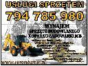 USŁUGI WYNAJEM KOPARKO ŁADOWARKI KATOWICE SLASK, Sosnowiec,Katowice,Mysłowice,Jaworzno, śląskie