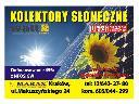 Sprzedaż i montaż  kolektorów słonecznych., Kraków, małopolskie