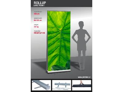 Roll up 80, 85, 100, 120x200cm - kliknij, aby powiększyć