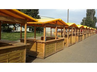 Drewniane Domki handlowe  w wersji otwartej - Poznań - kliknij, aby powiększyć