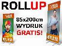 Rollup ROLL-UP 85x200 cm z wydrukiem 1440 dpi super jakość PROJEKT