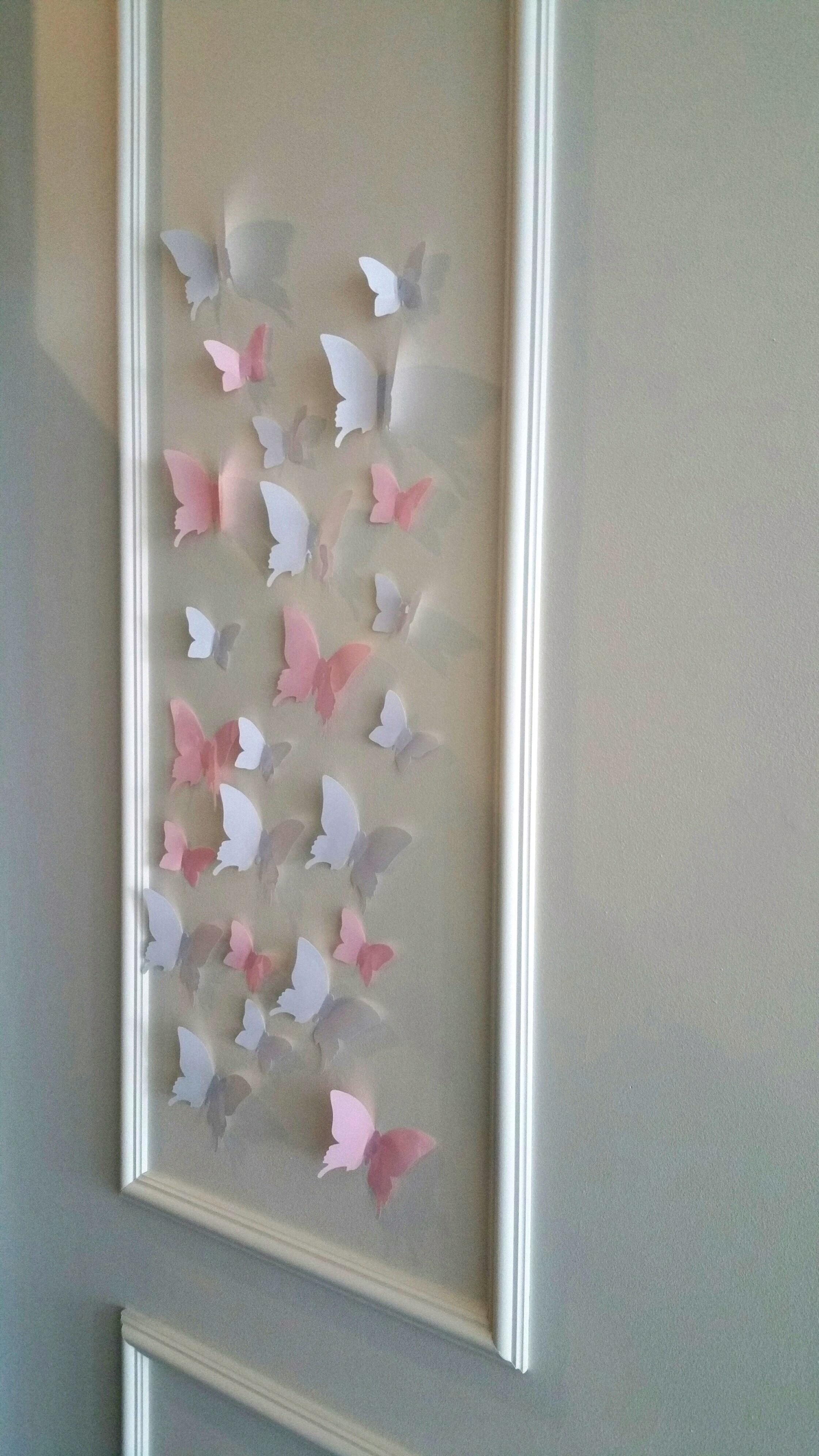 Dekoracje Na ścianę Szkło Motyle 3d Białe Galeria