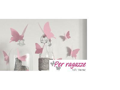 Naklejki Na ścianę Motyle 3d Różowe Nr 11881 Produkt Dostępny Na Obszarze Cała Polska