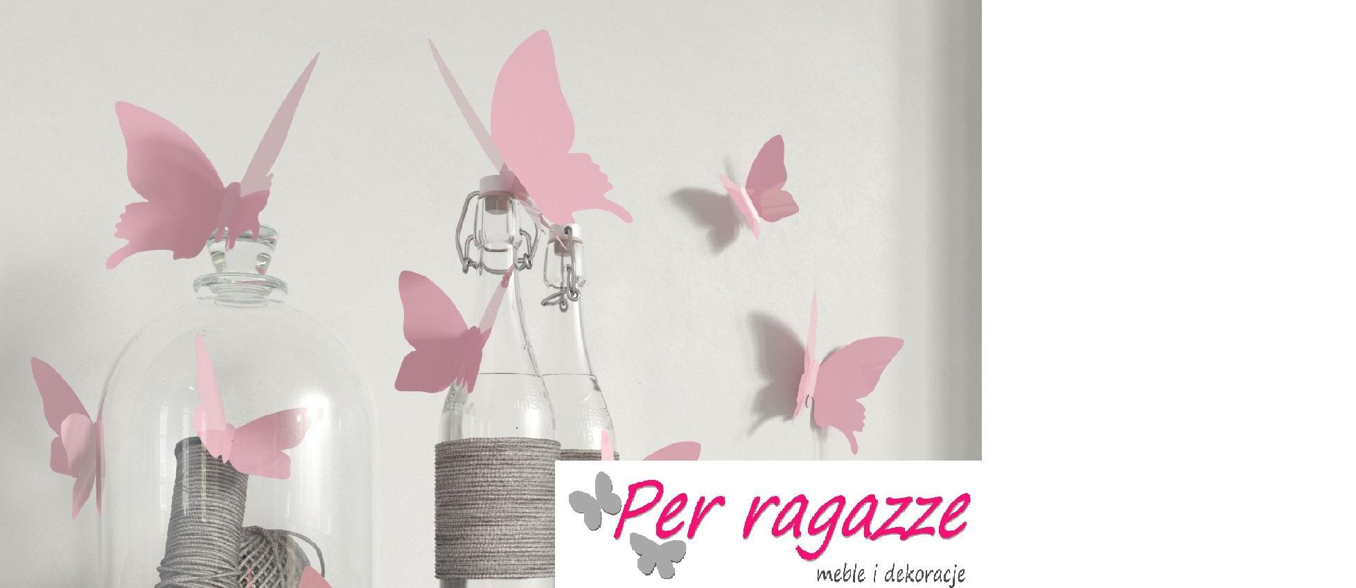Naklejki Na ścianę Motyle 3d Różowe Galeria Zdjęcie 1 Z