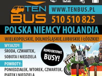 TENBUS***komfortowe przejazdy do Niemiec i Holandii***DVD,Wi-Fi, cała Polska