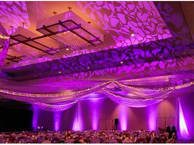 Oświetlenie sali na wesele - kliknij, aby powiększyć