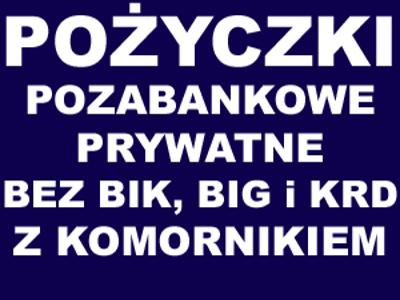 Pożyczki bez BIK, BIG i KRD, z komornikiem