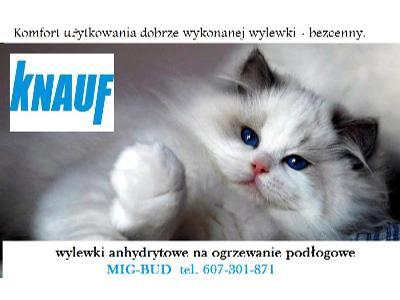 PROMOCJA Wylewki na ogrzewanie podłogowe KNAUF anhydrytowe LAFARGE tyn, Kraków (małopolskie)