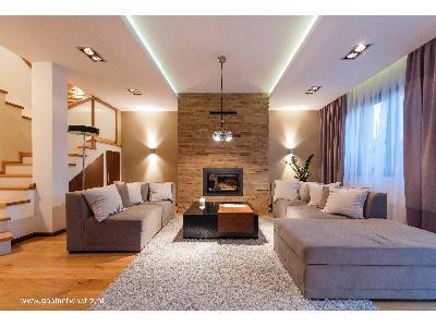 Salon styl klasyczny projekt wnętrz Gabinet Wnętrz - kliknij, aby powiększyć