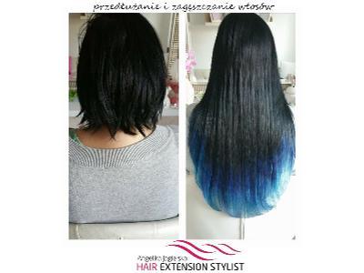 Przedłużanie, zagęszczanie włosów, hair extensions