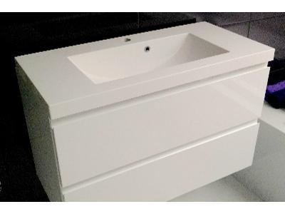 Szafka z umywalką SER 100 x 39 samodomyk połysk