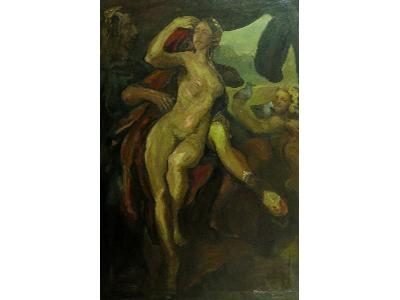 Obraz olejny, Podróż, 160 x 100 cm, oplej, płótno , 2004 r,  - kliknij, aby powiększyć