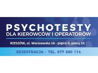 psychotesty Rzeszów, badania kierowców i operatorów - kliknij, aby powiększyć