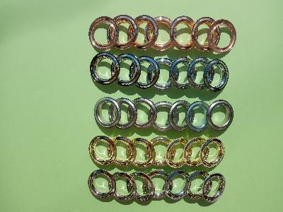 Przelotki metalowe do firan zasłon i kotar - kliknij, aby powiększyć