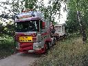 Transport domków holenderskich angielskich mobilnych barakowozów , Wołomin (mazowieckie)