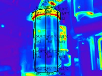 Obraz termowizyjny rekuperatora - kliknij, aby powiększyć
