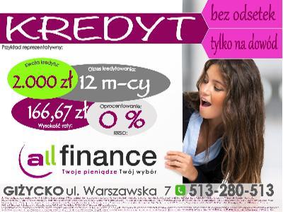 Atrakcyjna oferta bez dokumentów dochodowych :)  - kliknij, aby powiększyć