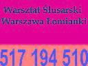 Warsztat ślusarski, lakiernia proszkowa, Łomianki (mazowieckie)
