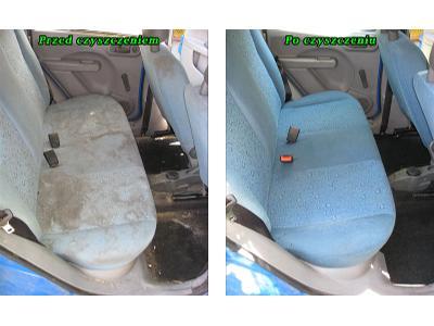 Czyszczenie tapicerki samochodowej - kliknij, aby powiększyć