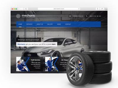Strony www dla mechaniki pojazdowej / serwisu - kliknij, aby powiększyć