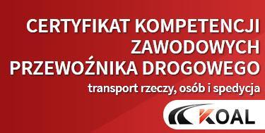 Kurs na Certyfikat Kompetencji Zawodowych - transport drogowy, Lublin, lubelskie