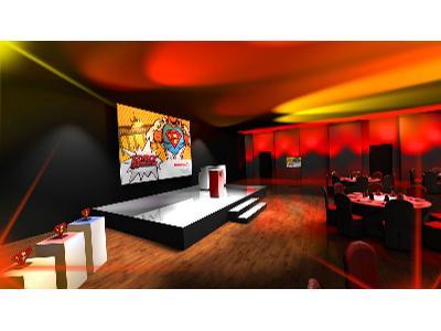 Scenografia eventowa - wizualizacja 3D - kliknij, aby powiększyć