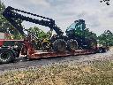 Transport maszyn leśnych transport kombajnów zbożowych, Głogów (dolnośląskie)