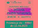 Studia podyplomowe - rekrutacja uzupełniająca, Kraków (małopolskie)