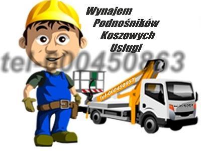 Podnosnik Koszowy, 18m, 21m, 25m, 31m, Wynajem, Usługi,  - kliknij, aby powiększyć