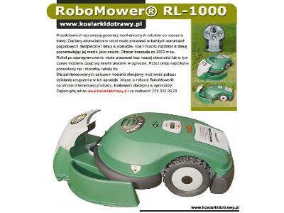 Jestem robotem do koszenia trawy i  tak wyglądam z moją stacją dokującą www.kosiarkidotrawy.pl - kliknij, aby powiększyć