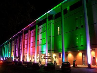 Oświetlenie architektoniczne podczas otwarcia LUBLIN PLAZA - kliknij, aby powiększyć