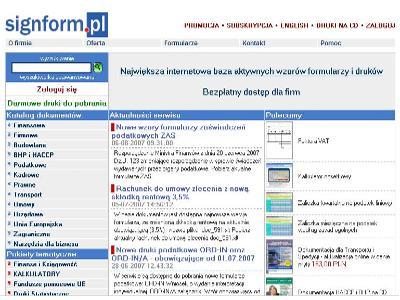wzory formularzy, umów, druki Signform.pl - kliknij, aby powiększyć